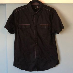 G by Guess Short Sleeve Button Down Mens M